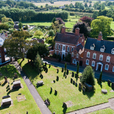Church Grounds From Tower - Click to open full size image