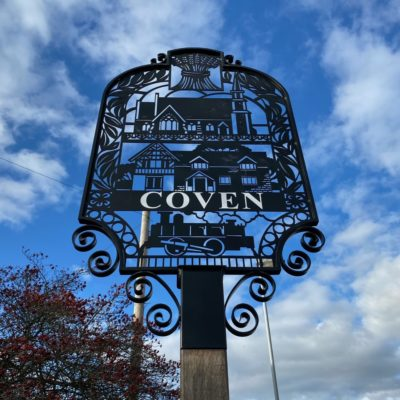 Coven Village Sign (2) - Click to open full size image